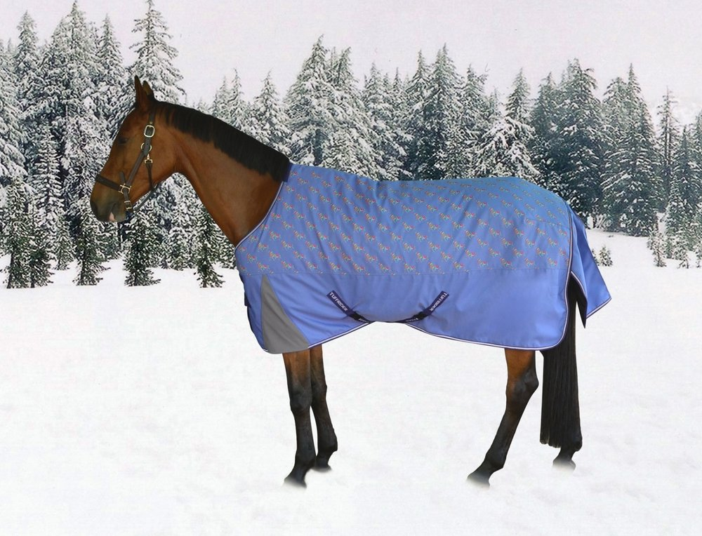TuffRider 1200D Ripstop Light Weight Pony Turnout Blanket - Horse Print JPC Equestrian Inc