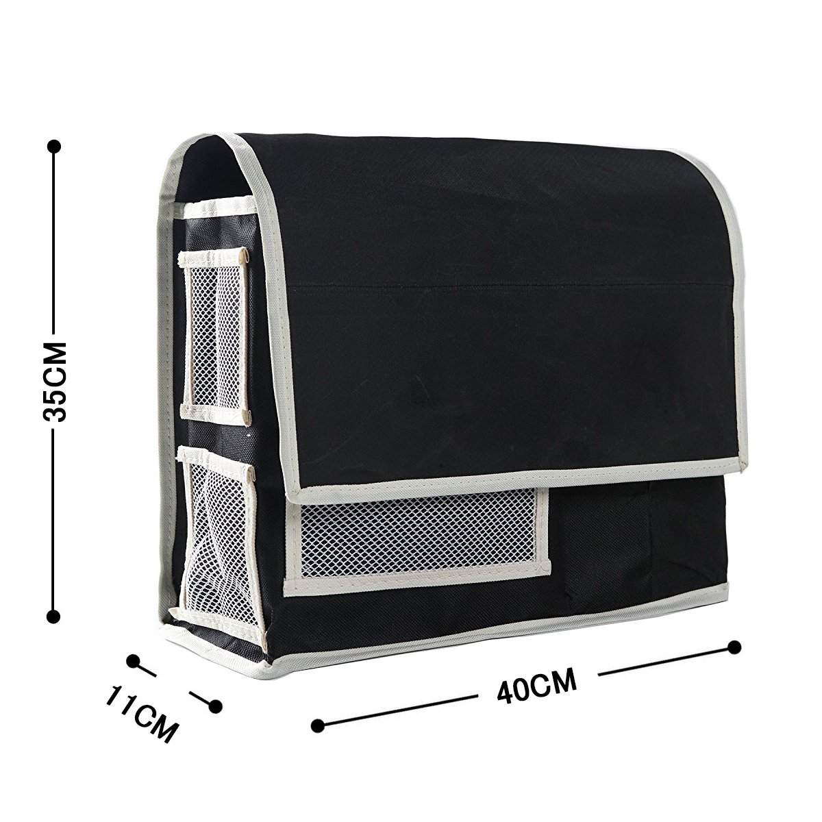 VOIMAKAS Bedside Hanging Storage Bag, 6 Pockets Oxford Cloth Organizer Bag for Book Magazine Phone Tissue TV Remote Accessory - Black by VOIMAKAS (Image #5)