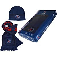 Coffret PSG (Bonnet + Echarpe) - Licence Officielle - Bleu.
