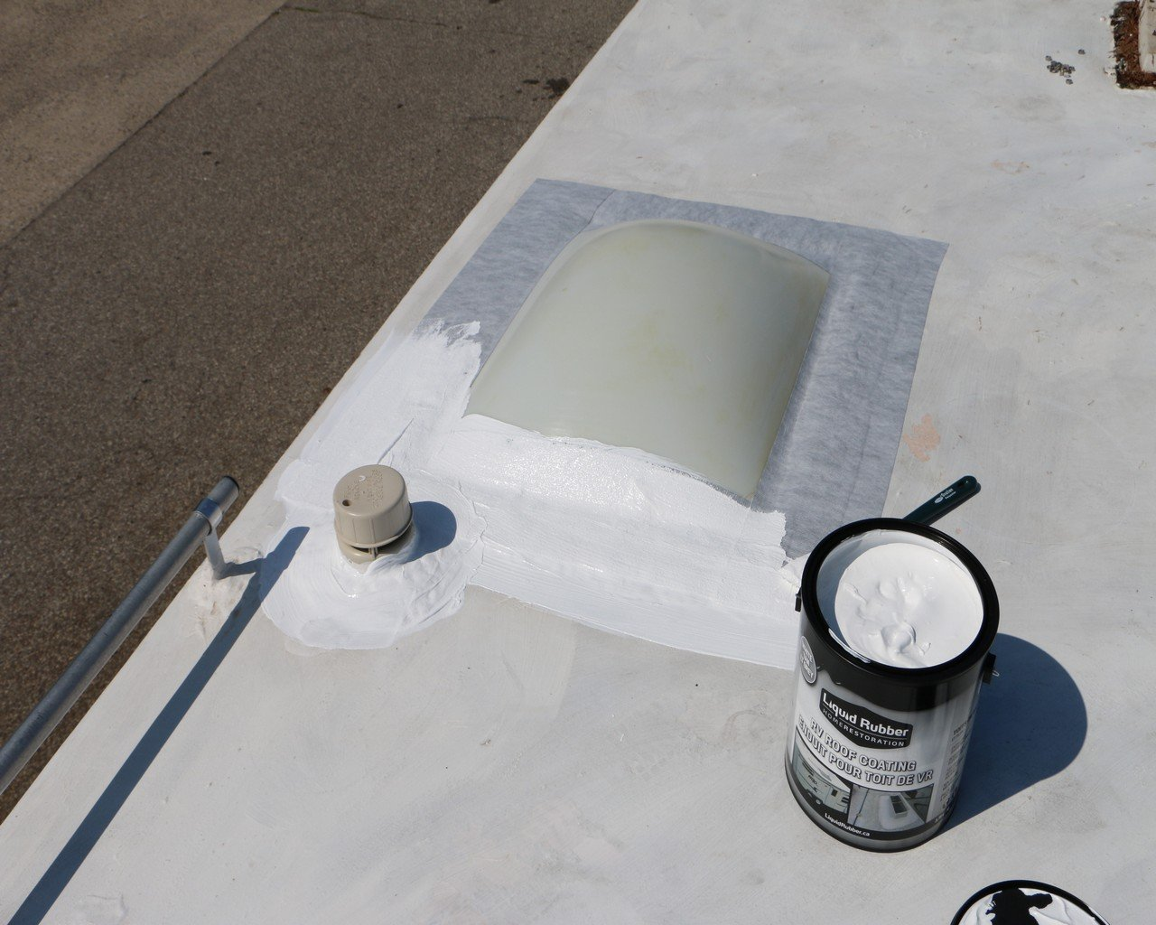 Liquid Rubber Seam Tape - Fix Leaks - For Repairs and Restoration - Easy to Use - Polyester Top to Accept Liquid Rubber Coatings - RV Roofs, Metal Roofs, Gutters... - TOP SELLER - 4'' x 50' Roll by Liquid Rubber USA (Image #2)