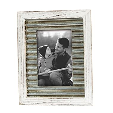 Foreside Home & Garden FFRD06111 4X6 Logan Distressed Frame White