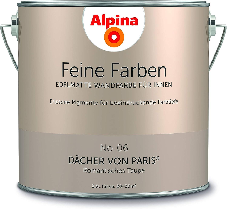 Alpina 2 5 L Feine Farben Farbwahl Edelmatte Wandfarbe Fur Innen No 6 Dacher Von Paris Romanti Amazon De Baumarkt