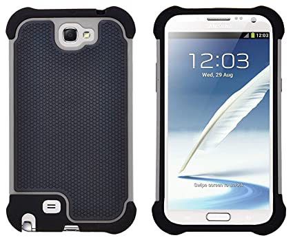 low priced b5021 a652f G-Shield Case for Samsung Galaxy Note 2, Shock Absorption Protective Cover,  Gray