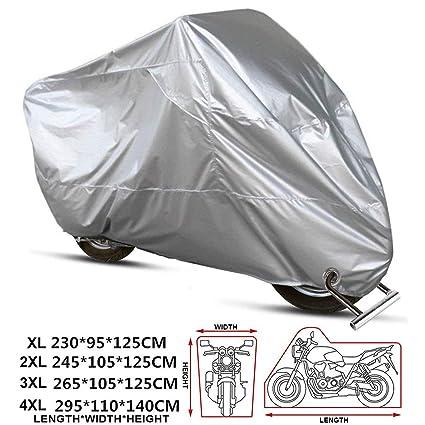 ANFTOP motocicleta Funda para moto Negro Color Agujeros de la cerradura Cubierta uv polvo protectora impermeable de Cubierta XL