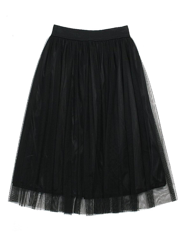 Aimerfeel metà donna tulle gonna muti volant a strati Ruffles Skirt maglia da sposa sottoveste, formato 38-42