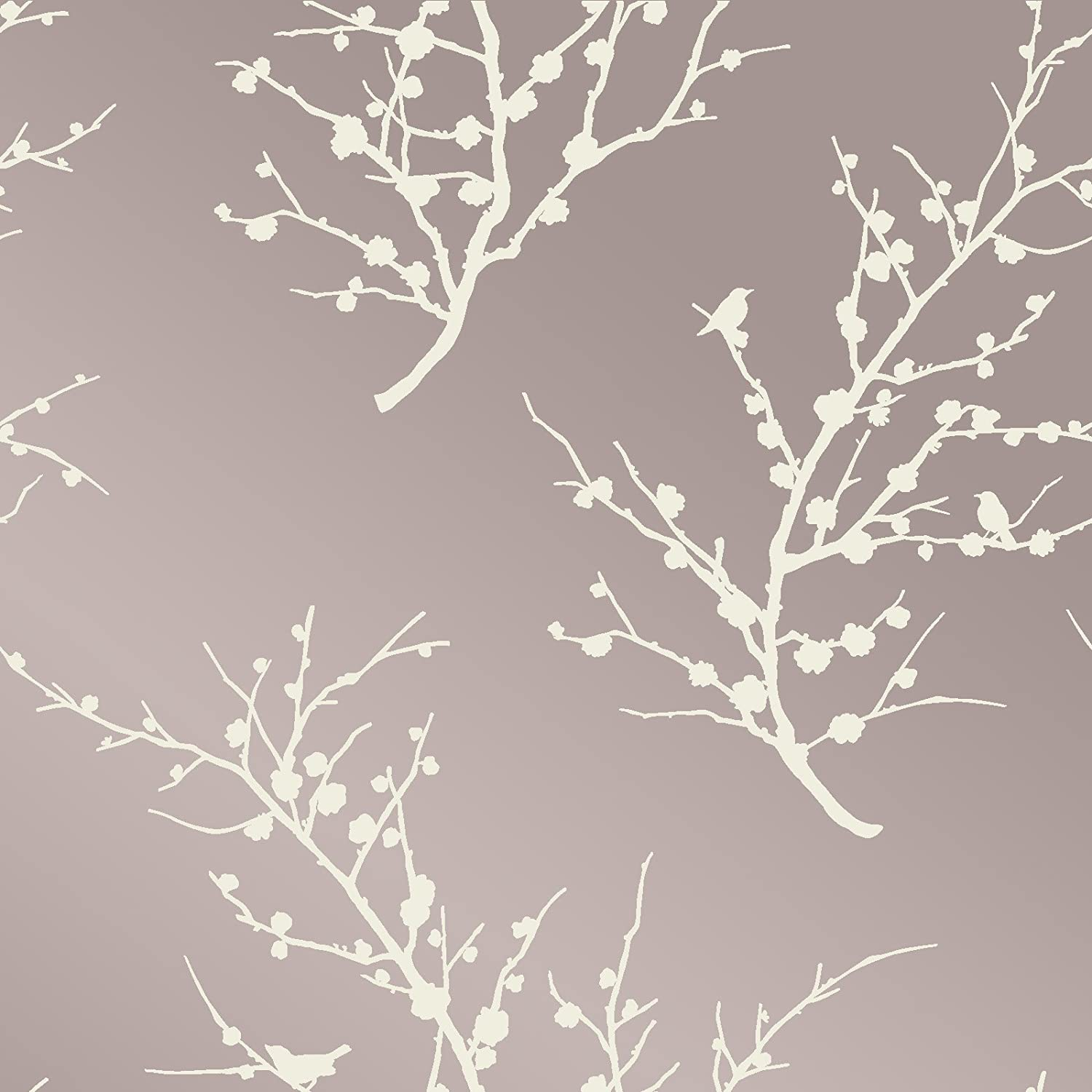 Champagne//Taupe 061671500398 Tempaper Cherry Blossom Removable Wallpaper