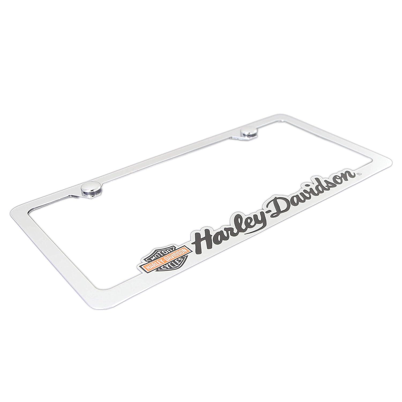 Cut Out Harley-Davidson License Plate Frame Holder With Color Bar /& Shield Baronlfi HDLFC61