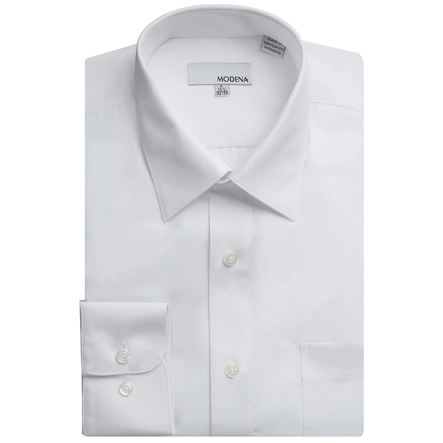 Colors Modena Men/'s Regular /& Contemporary Fit Long Sleeve Solid Dress Shirt All Sizes Slim