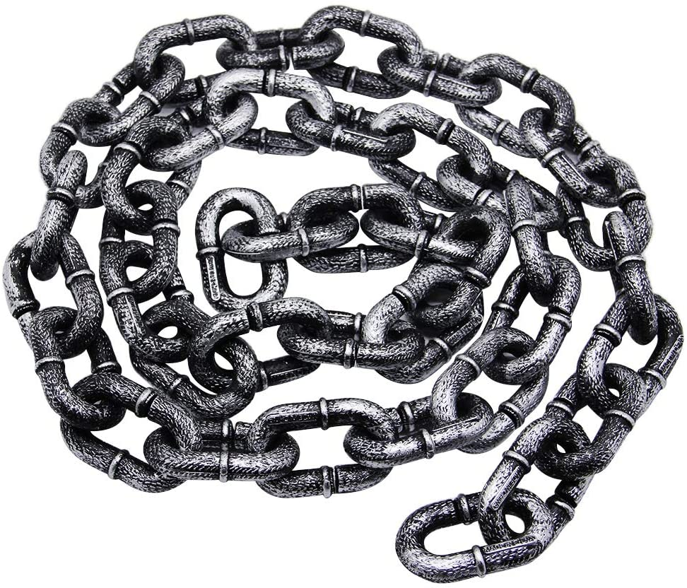Zcaukya Halloween chains, Plastic Chains Props Toy, 6 Feet Decoration Chain, Great for Costume Party
