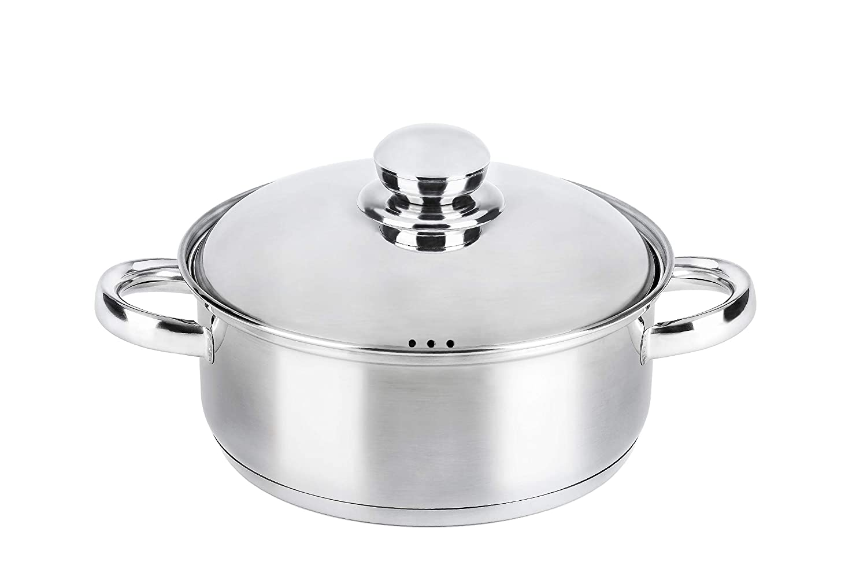 18//10 Steel Vier Selena Saucepan 7.2 litres