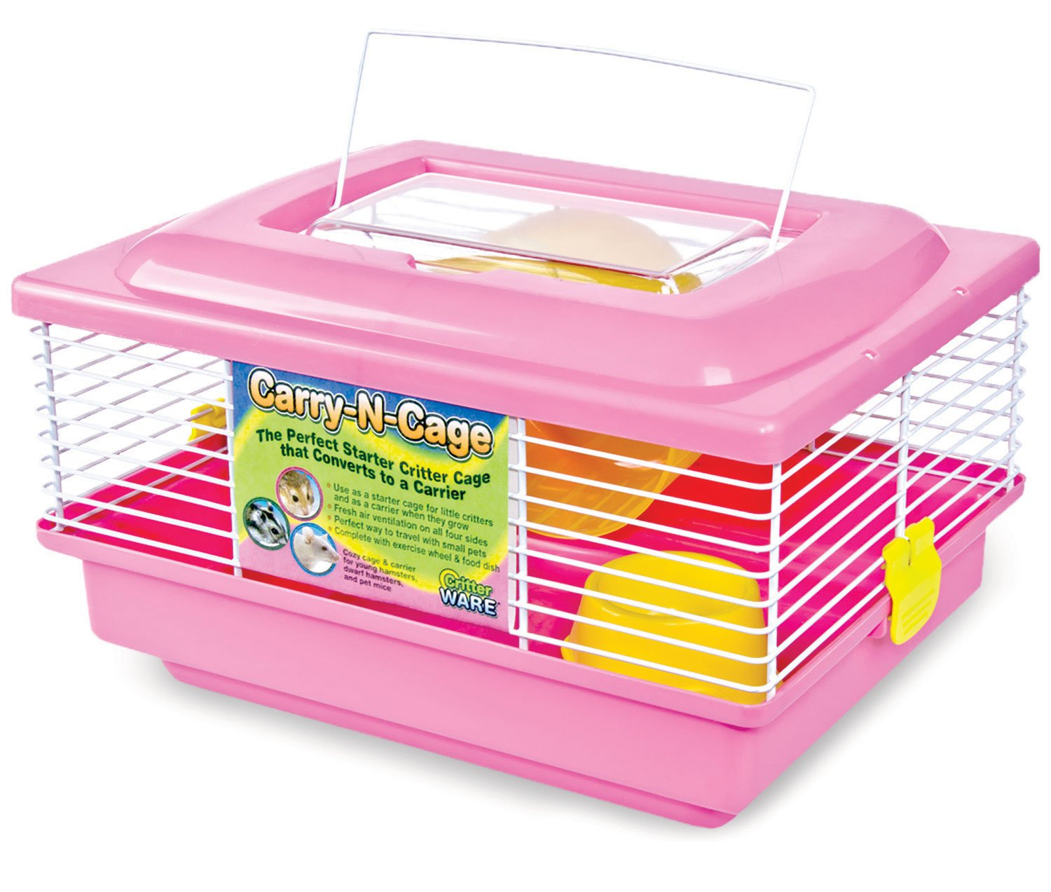 Ware Manufacturing Carry-N-Cage for Small Animals, Pink