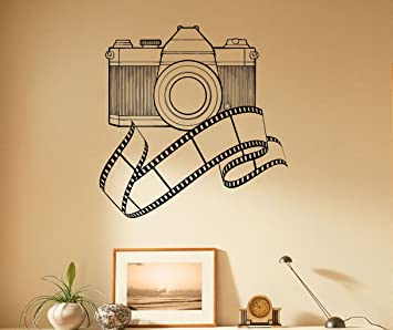 Vintage Camera Wall Decal Photo Studio Decor Vinyl Sticker Photography Interior Home Wall Graphics Art Bedroom  sc 1 st  Amazon.com & Vintage Camera Wall Decal Photo Studio Decor Vinyl Sticker ...