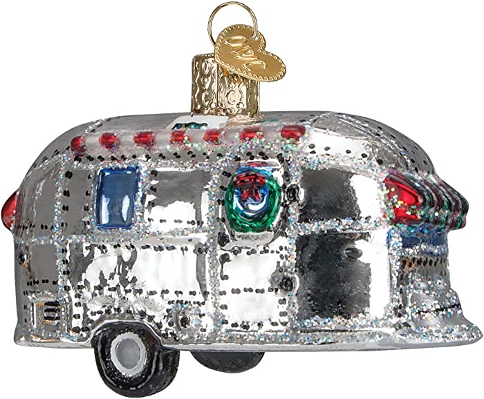 Old World Christmas Camping Outdoor Collection Glass Blown Ornaments for Christmas Tree Vintage Trailer