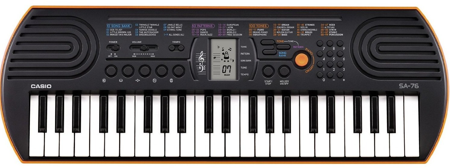 d088fc0dfaa Casio SA-76 Mini Keyboard-44 Keys with Adapter   Blueberry Cover Bag   Amazon.in  Musical Instruments