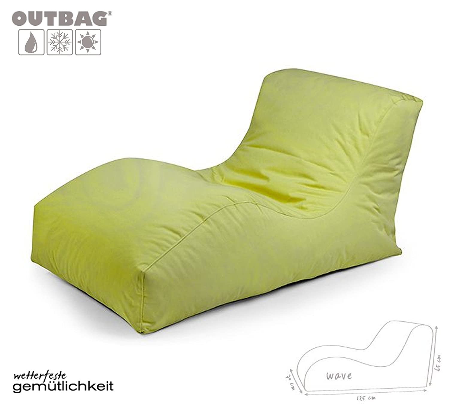 Sitzsack Outbag Wave Kollektion Plus in Limone