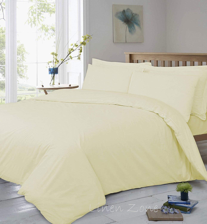 Linen Zone - Sábana bajera ajustable de algodón egipcio, 400 hilos, 40 cm de profundidad, algodón egípcio Satén Lino algodón, crema, 2 Oxford Pillow Cases: Amazon.es: Hogar