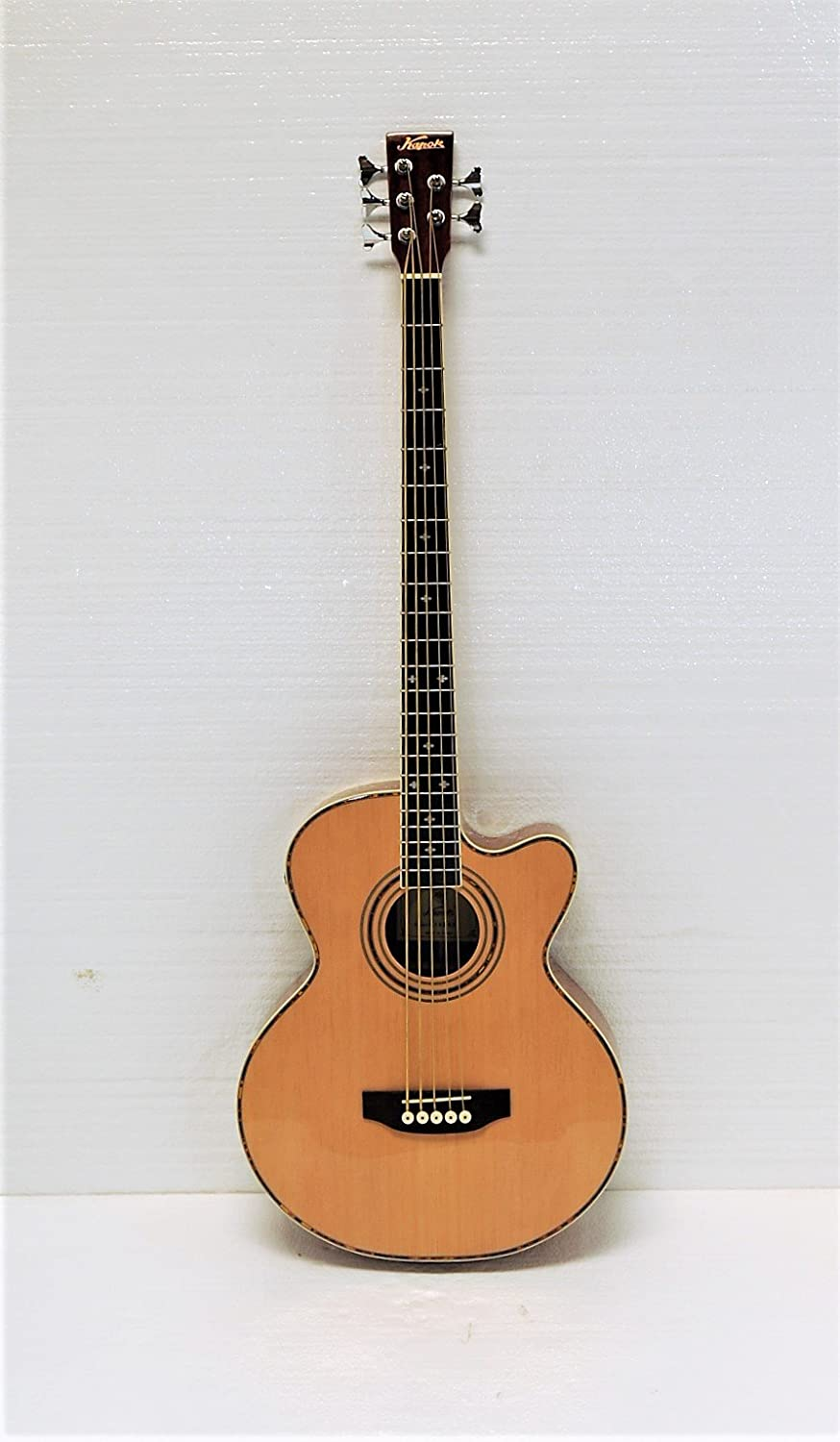 5 String Cutaway Acoustic Electric Bass, Spruce Top Kapok KAB-165F-N