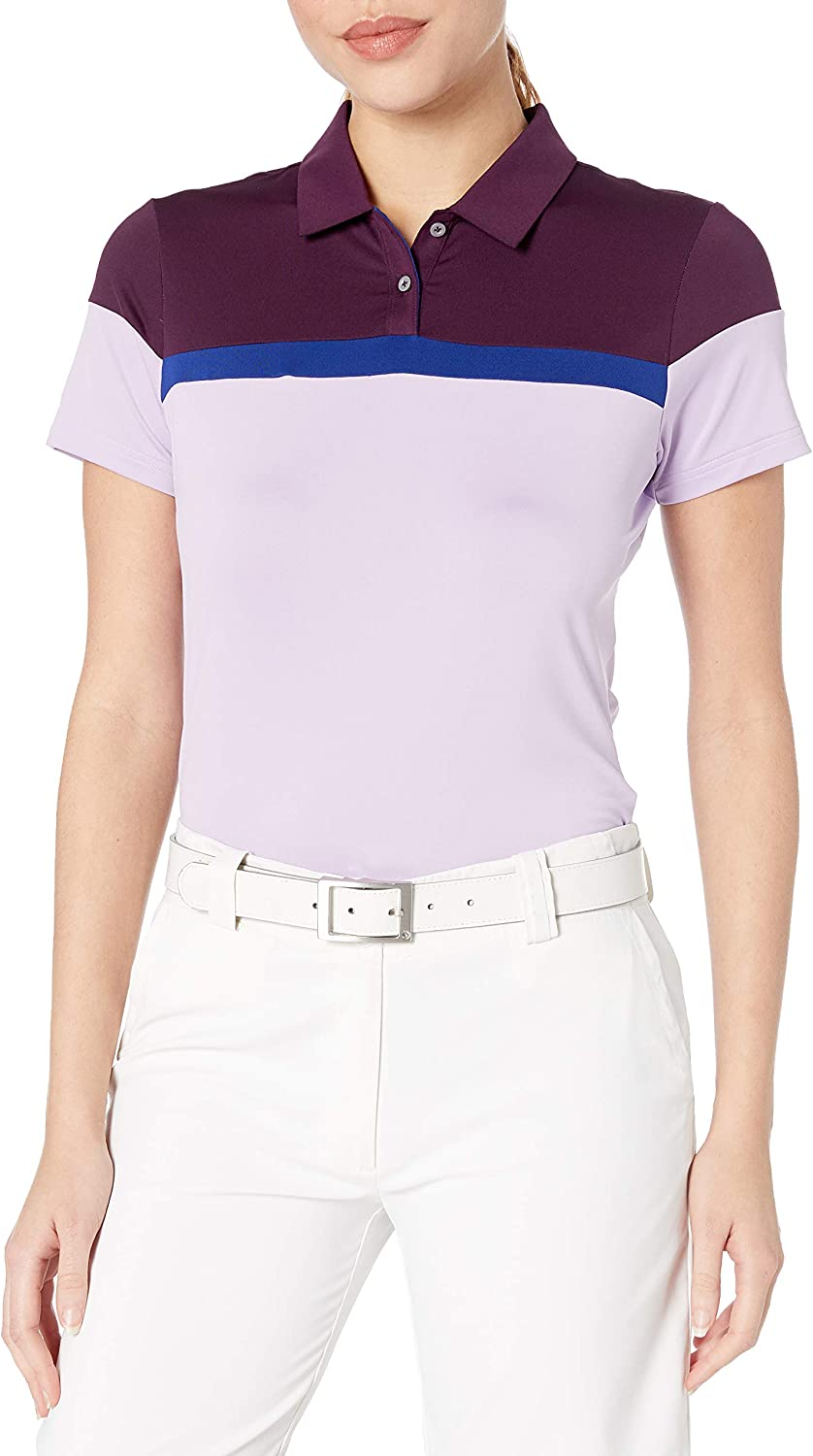 adidas Golf Mujer Color Bloqueado Polo de Manga Corta: Amazon.es ...