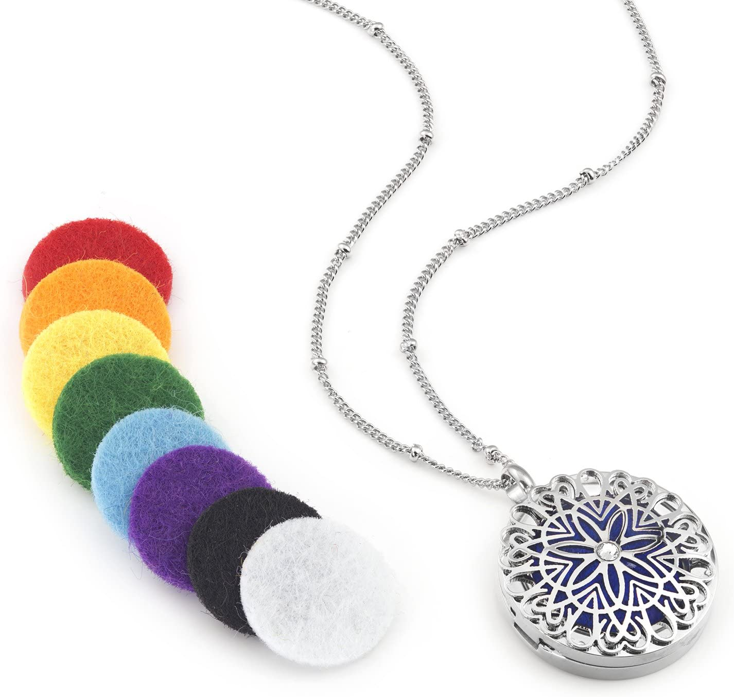 Flower Essential Aromatherapy Diffuser Necklace Image 1