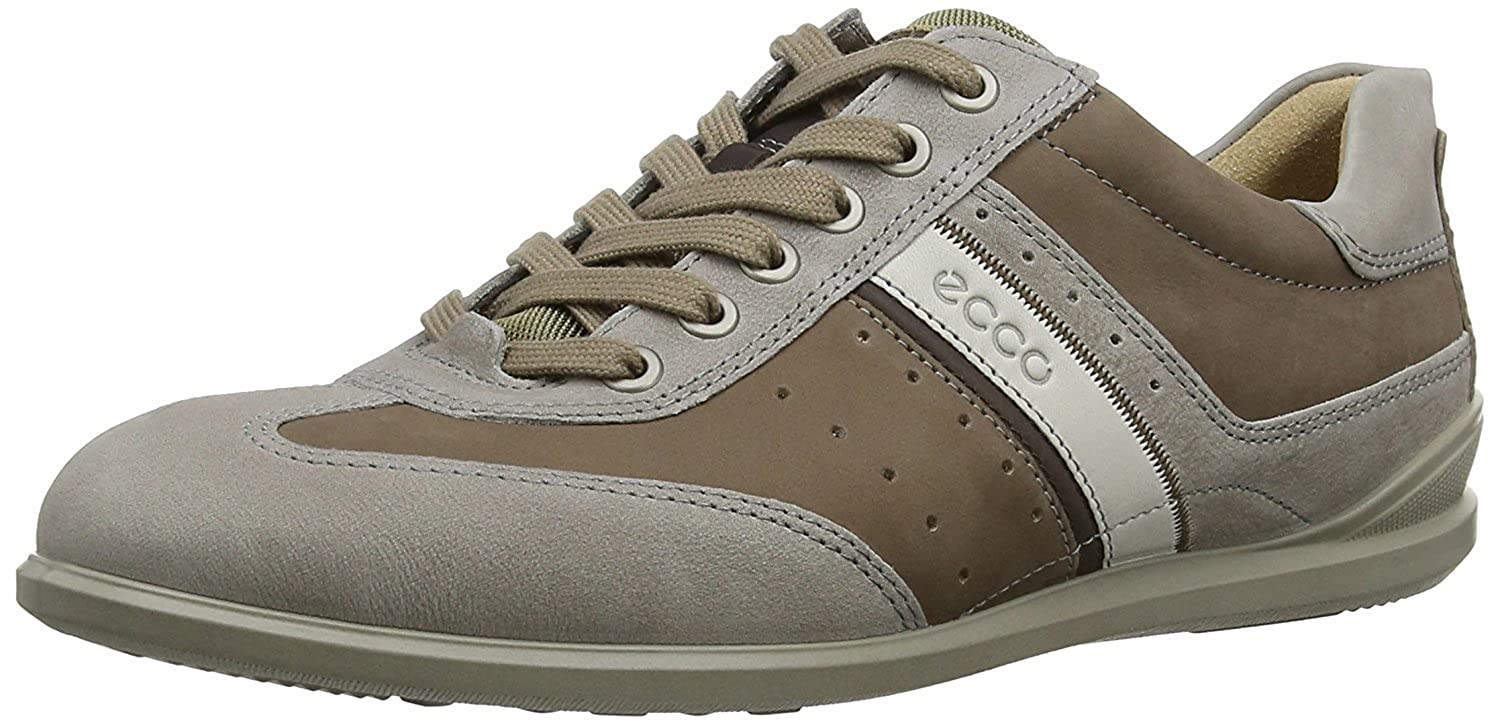 ECCO Men's Chander Retro Oxford Stone 45 EU/11-11.5 M US [並行輸入品] B075GKG184