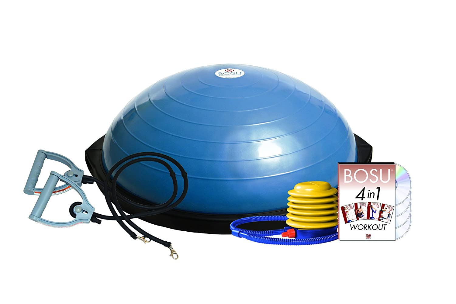 Bosu Balance Trainer with Resistance Bands Ball Bounce and Sport Inc. 72-10850-3COS