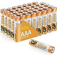 GP Batteries GP24AU Ultra Alkalin LR03/E92/AAA İnce Kalem Pil, 1.5 Volt, 40'lı Paket, Bakır/Siyah/Beyaz