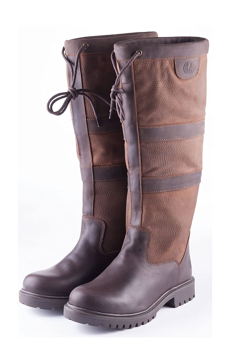 Rydale Tullymore Leather Country & Equestrian Riding Boots Oak)