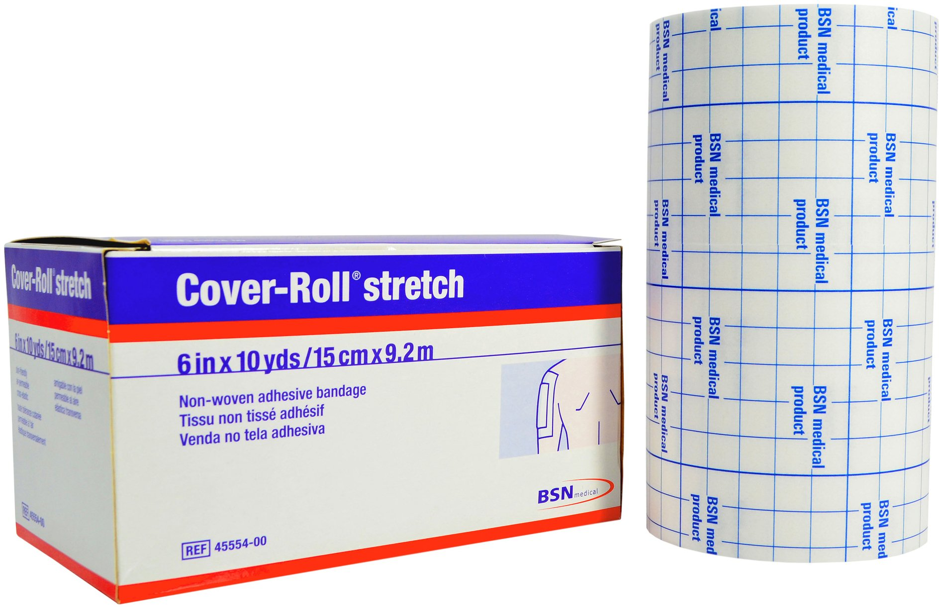 Cover-Roll Stretch Adhesive Bandage Tape - 6'' x 10 Yards by Cover-Roll
