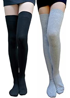 6ebefa13317 AM Landen Cotton Thigh Highs Socks Over Knee Socks Leg Warmer Package Deal