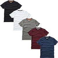 Charles Wilson Paquete 5 Camisetas Cuello Redondo Lisas