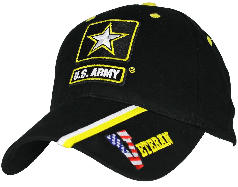 af1b88e1702 Amazon.com  Eagle Crest U.S. Army Veteran Baseball Cap. Black ...