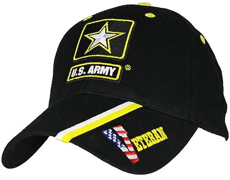 d50bbaa34c2 Amazon.com  Eagle Crest U.S. Army Veteran Baseball Cap. Black ...