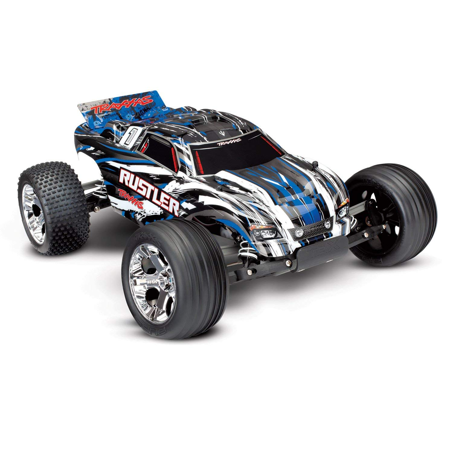 Traxxas 37054-1BLUEX Traxxas Rustler XL-5 Truck Ready-To-Race TQ 2 Channel 2.4Hz