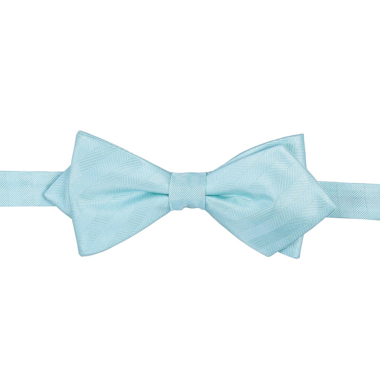 191f11590773 James Alexander Premium Plain Herringbone Silk Aqua Men's Formal Casual  Business Wedding Tuxedo Pointed Pre-Tied Adjustable Bow Tie: Amazon.co.uk:  Clothing