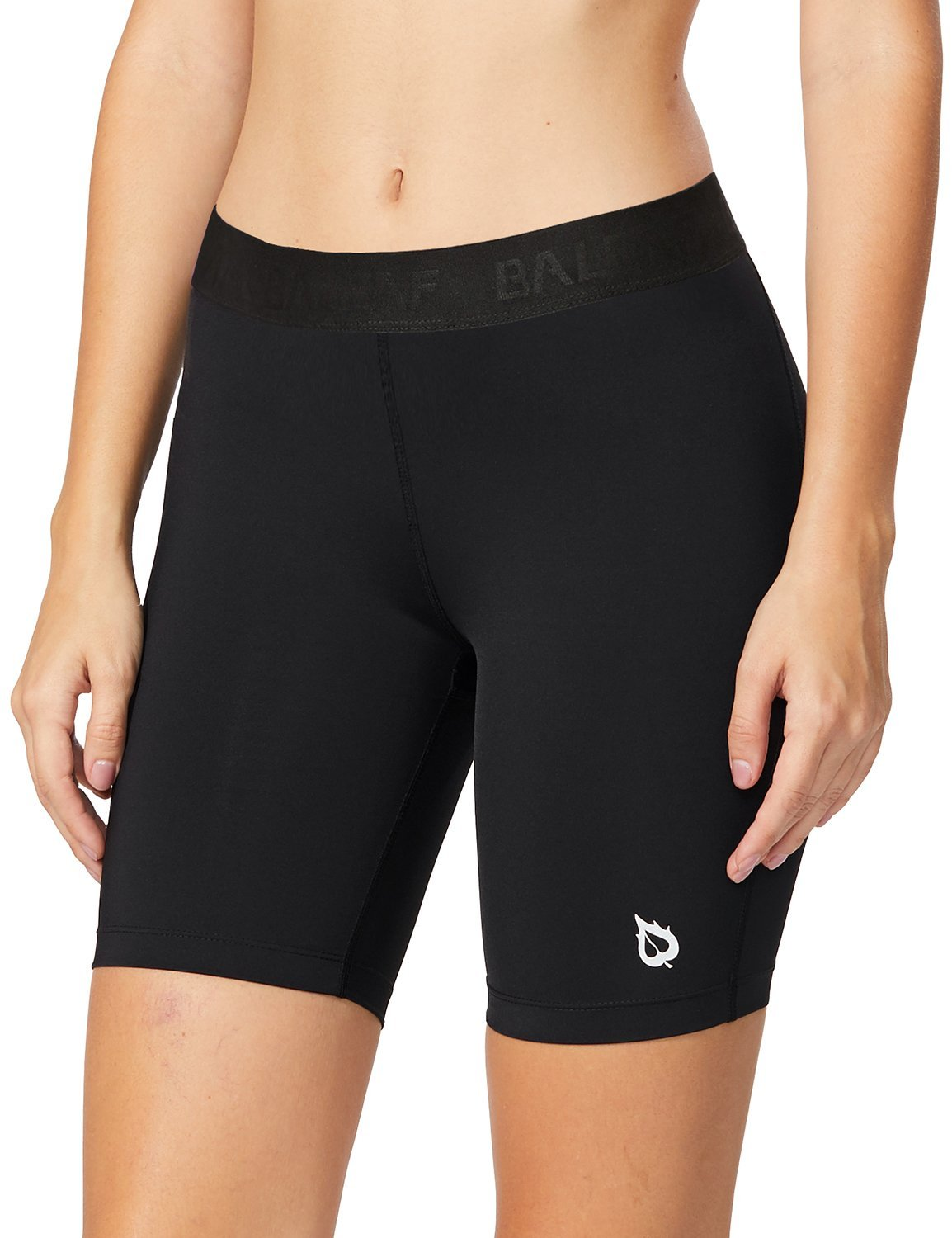 Baleaf Women's 7-Inch Active Fitness Compression Shorts Black Size S by Baleaf