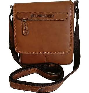 Hill Burry Leder Schultertasche,Vintage Businesstasche,Umhängetasche schwarz