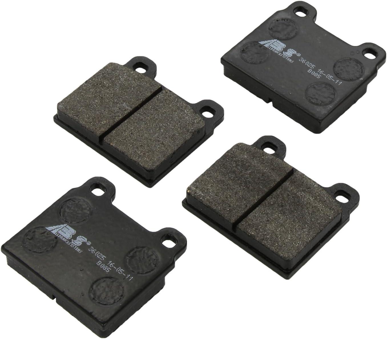 4-teilig ABS All Brake Systems bv 36025 Bremsbel/äge