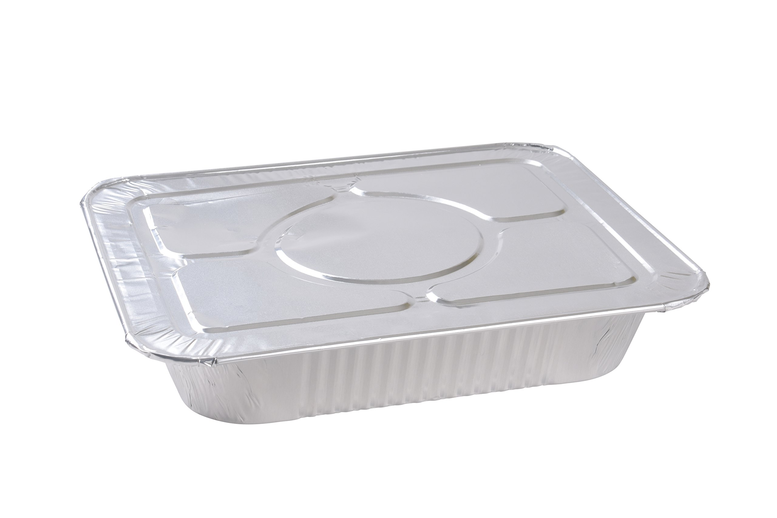 A World of Deals 9 X 13 Half Size Deep Foil Steam Pans with Lids, 30 Pack by A World Of Deals