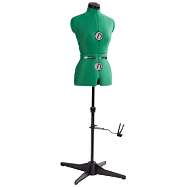 """Dritz 20420 Sew-You Dressform with Tri-Pod Stand Adjustable Up to 63"""" Shoulder Height, Small, Opal Green"""