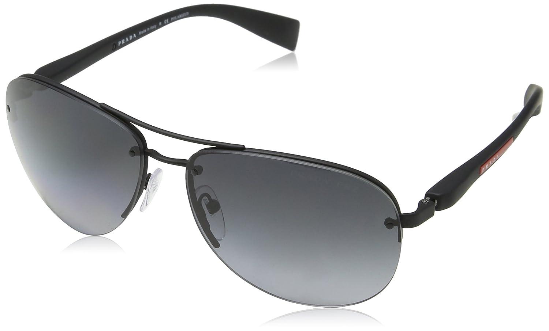f13e7e481ea Amazon.com  Prada Linea Rossa Men s PS 56MS Sunglasses 62mm  Clothing