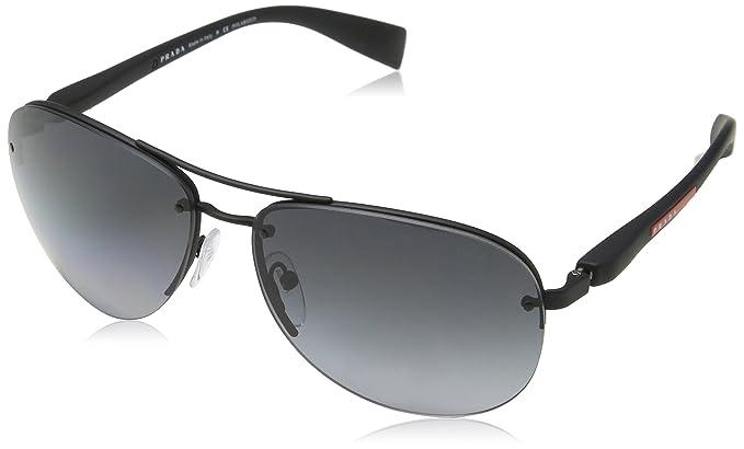 e5d7858d9c608 Amazon.com  Prada Linea Rossa Men s PS 56MS Sunglasses 62mm  Clothing