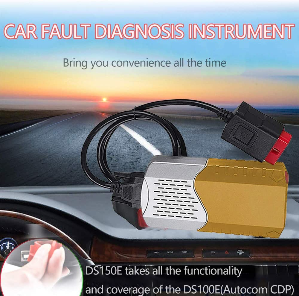 Obd2-Selbstdiagnose-USB Obd2 Diagnoseger/ät Bluetooth Ios,Diagnoseger/ät Auto Usb,Obd2-Selbstdiagnosescanner 150E TCS CDP OBD2 Obd-Ii-Motorsystem-Diagnosewerkzeuge Black Obd-Ii-Anschluss