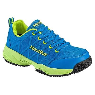 Nautilus 2154 Women's Comp Toe Light Weight Slip Resistant Safety Toe Athletic Shoe, Blue, 7.5 W US: Shoes