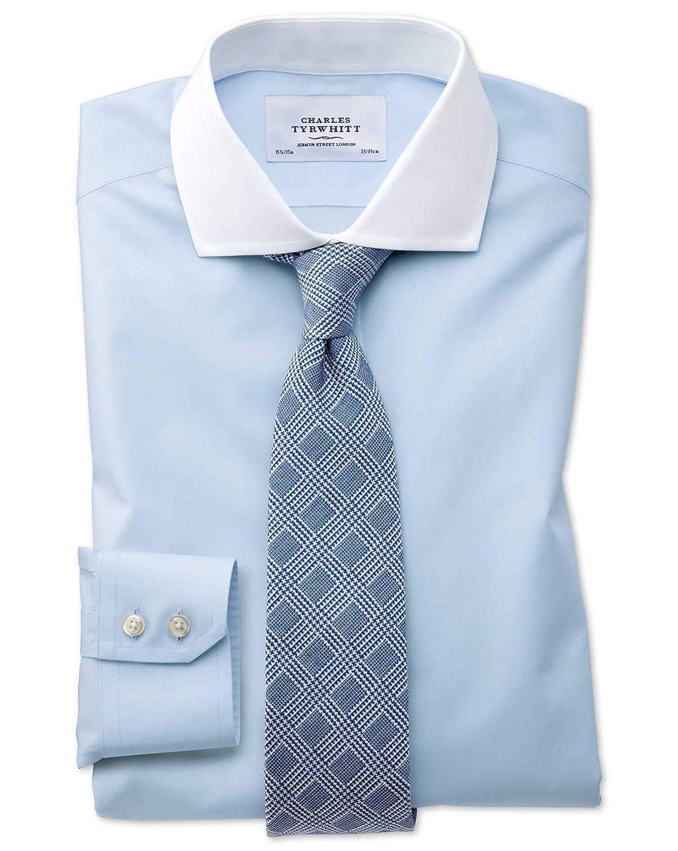 Bügelfreies Slim Fit Winchester Hemd mit Haifischkragen in
