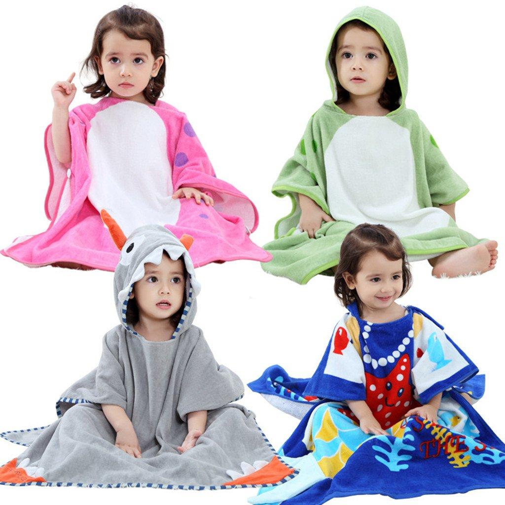 Zilee Kids Hooded Poncho Bath Towel - Boys Girls Cotton Bathrobe Swim Beach Blanket by Zilee (Image #6)