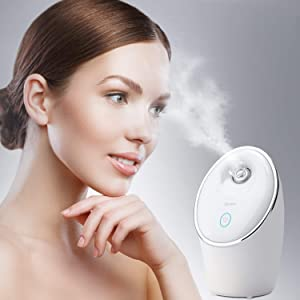 Spaire Facial Steamer Nano Ionic 90ML Face Sauna Spray Hot Mist Humidifier for Moisturizing Cleansing and Skin Care