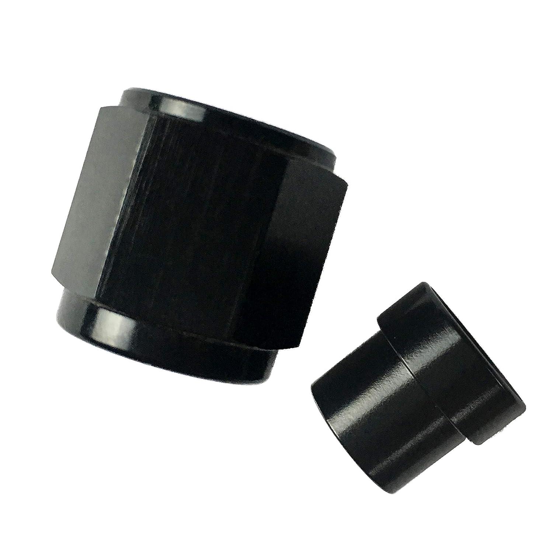Aluminum 1//4 NPT Male Socket Allen Head Pipe Plugs Pack of 2 Black