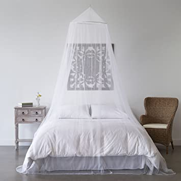 Mosquito Net Bed Canopy u2013 Bug Screen Repellant u2013 Conical Curtains for Twin Full & Amazon.com: Mosquito Net Bed Canopy u2013 Bug Screen Repellant ...
