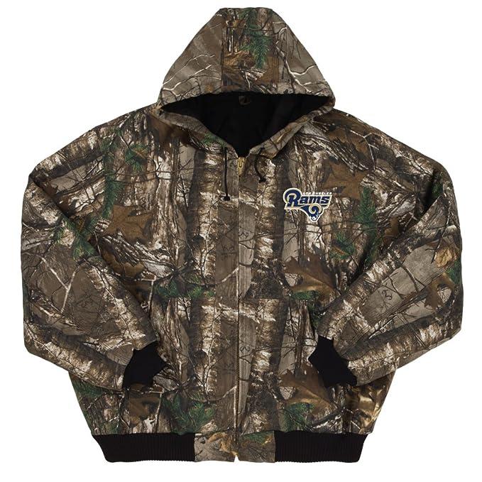 buy online 9d09c 7a67c Dunbrooke Apparel NFL Camo Cotton Canvas Quilt Lined Hooded Camoflauge  Jacket
