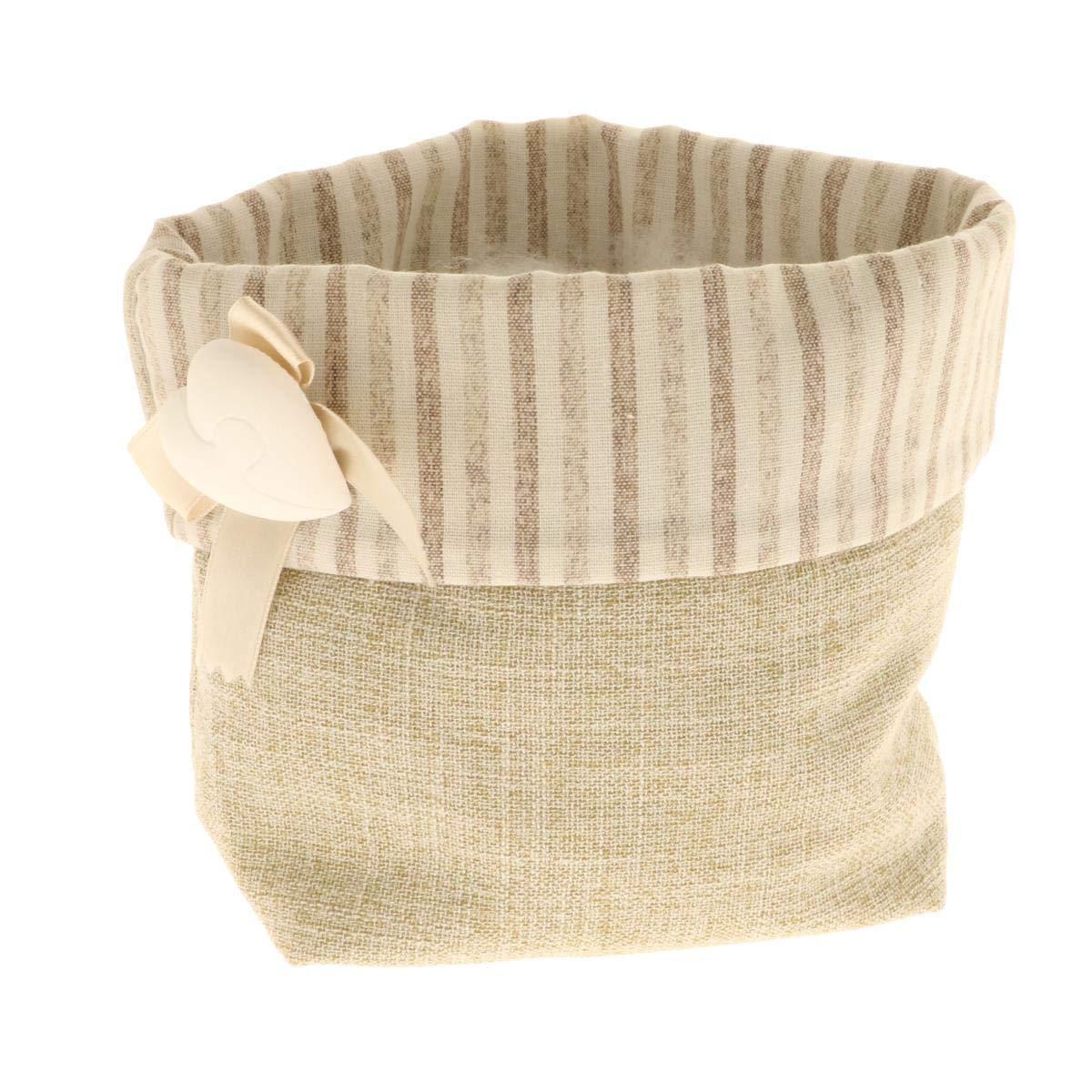 Subito disponibile 6 PEZZI EMMA Sacco sacchetto per confettata design righe con cuore Subitodisponibile